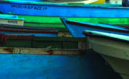 Blue Boats by Rodney Gene Mahaffey