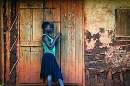 Girl and Door by Stephen K. Hall