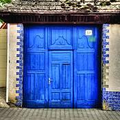 Blue Doors by Clark Gray