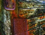 Ship Wood and Rust by Daryl Laudahl