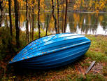 Blue Boat by Lars Hyttinen