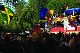 Flags & Peterbilt Float by Scott Brock