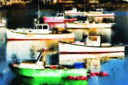 Bass Harbor Boats by Tony Sweet