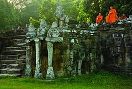 Angkor Stairway by Rick Kattelmann