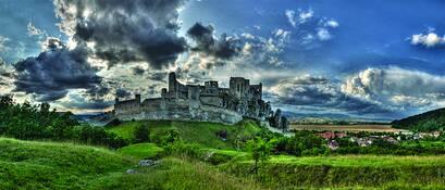 Ruins of Beckov Castle by Clark Gray