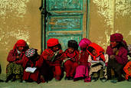 Tajik Girls by Michael Yamashita