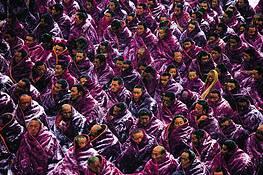 Tibetan Monks by Michael Yamashita