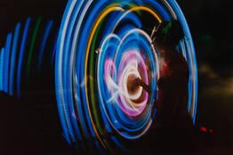 Hula Hoop in Riverside Park by Robin Herstand