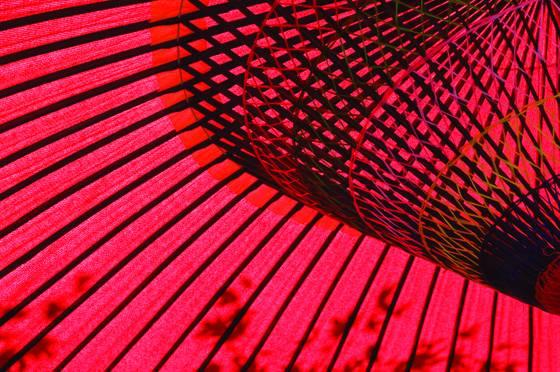 Red parosol