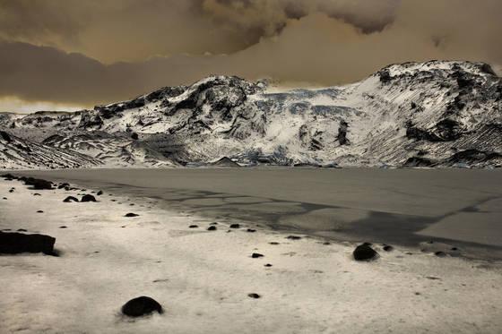 Gigjokull glacier lagoon
