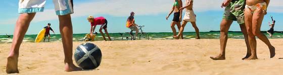 Panoramic beach scene