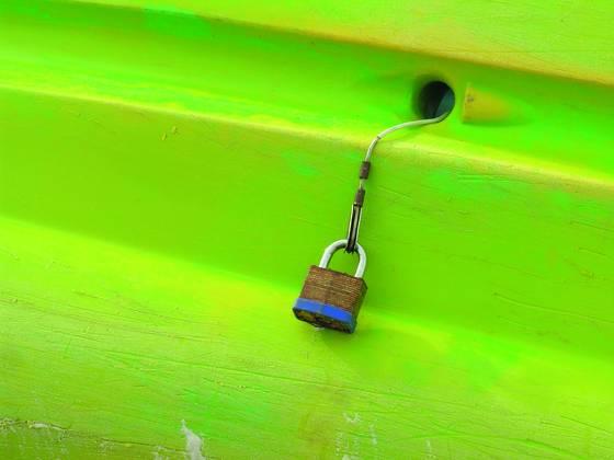 Kayak with lock
