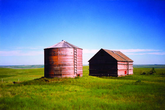 Silo and barn