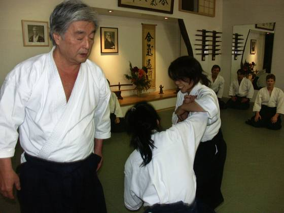 Instructing aikido black belts