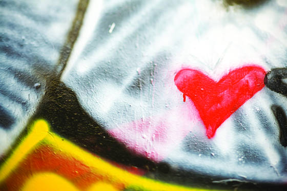 Graffiti heart