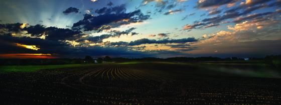 Pepin sunrise panorama