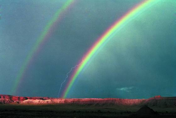 Double rainbow   lightning