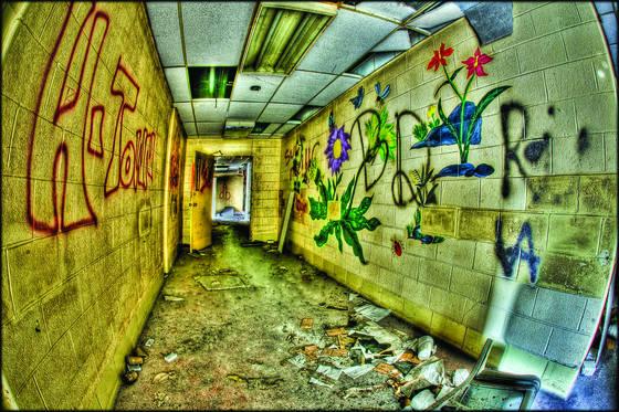 Hall of flowers graffiti