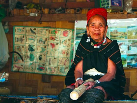 Elder red karen woman