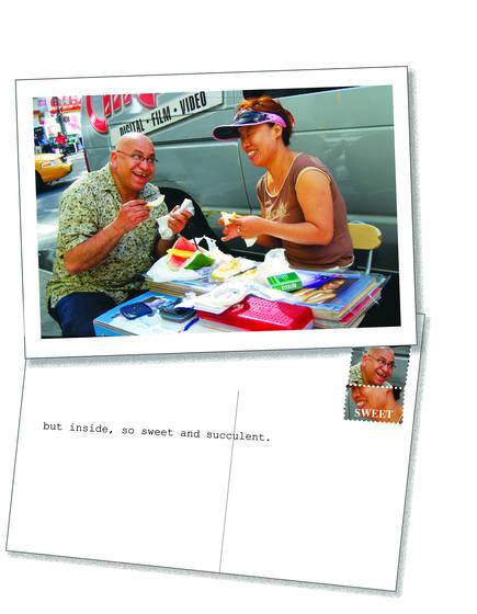 New york postcard   the vendor