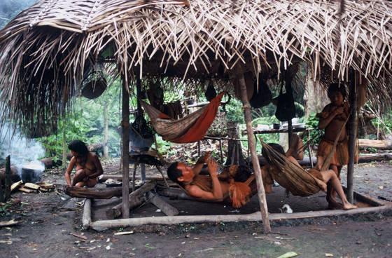 Yaguas in hut