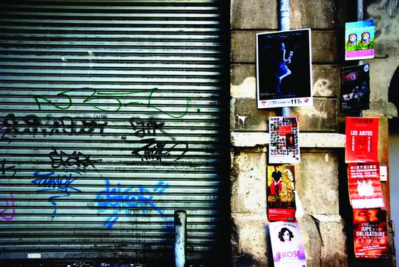Posters and graffiti