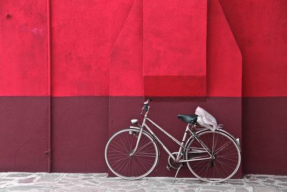 Bicycle red wall