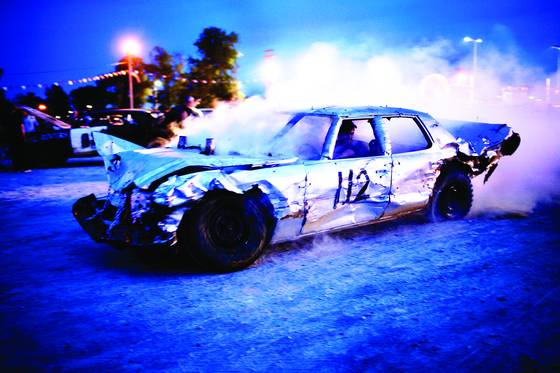 Demolition derby car 112