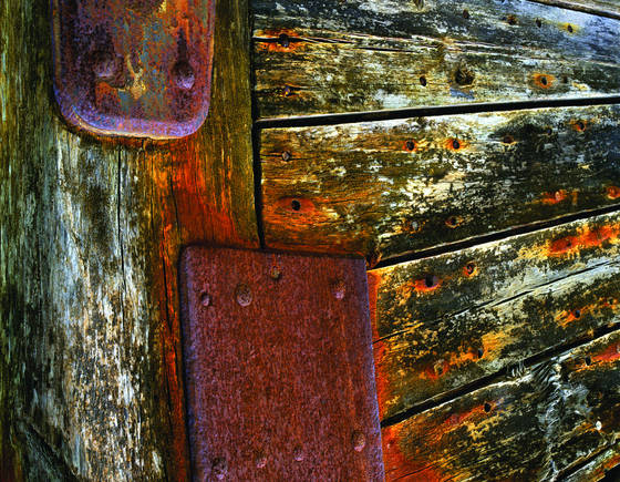 Ship wood and rust