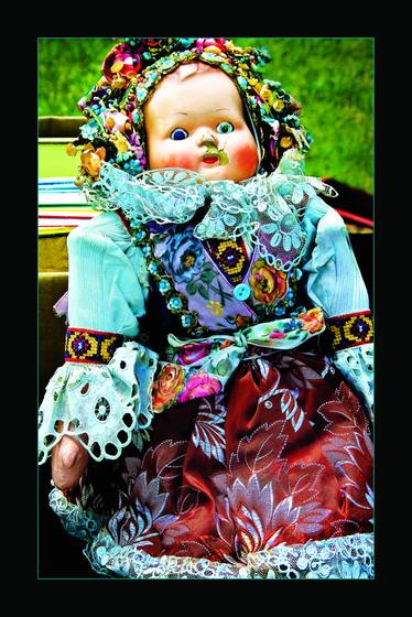 Lonely antique doll