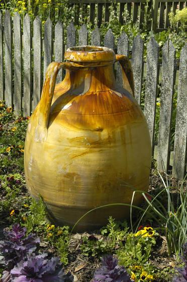 Ocher olive jar