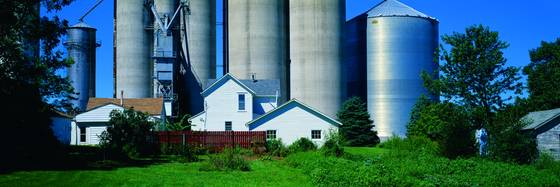House and silos
