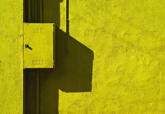 Yellow metre box