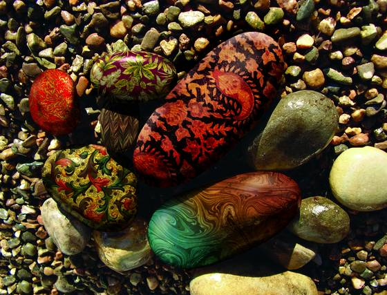 Fabric rocks