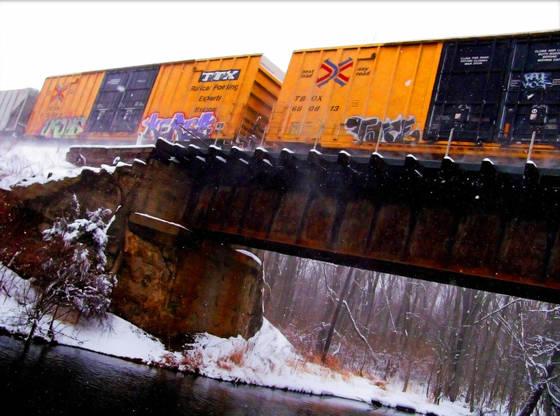 Snow boxcars