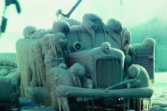 Frozen hose wagon
