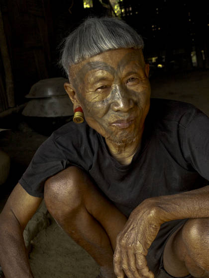 Konyak tribal elder
