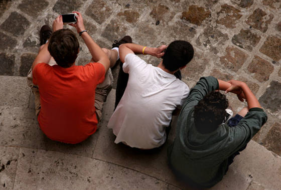 Boys waiting