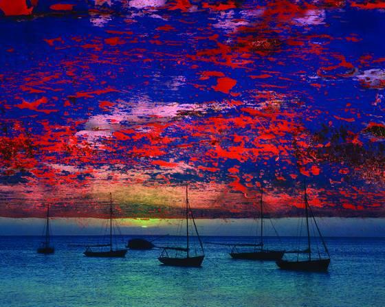 Boats at sundown