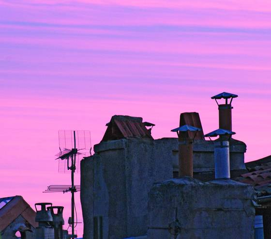 Rooftop sunset in aix