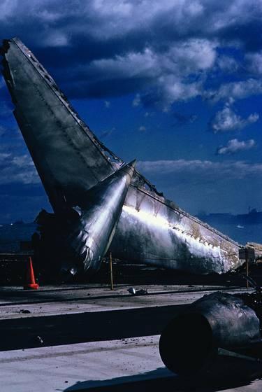 Logan airport wreckage of delta plane crash