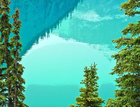 Turquoise reflections