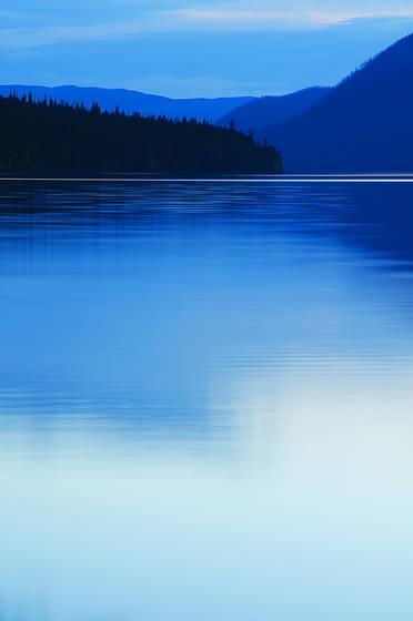 Twilight at lake