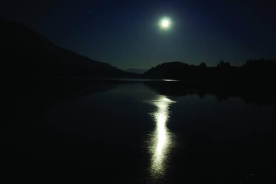 Baker lake moon