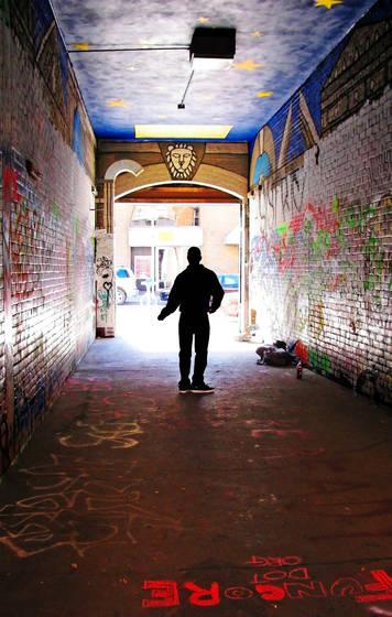 Graffiti lane dancer