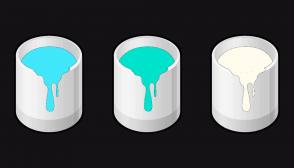 Color Scheme with #41E7FA #00E3CC #FFFCED