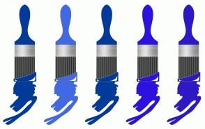 Color Scheme with #003B9A #416AE2 #003B9A #2C12DF #2D19C6