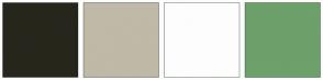 Color Scheme with #27261C #BFB9A8 #FDFDFD #6DA06A