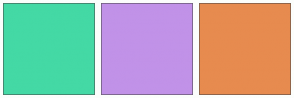Color Scheme with #44D9A5 #C192E8 #E78B4F