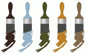 Color Scheme with #37241E #94B3C8 #4D4E24 #BD8025 #816A4A